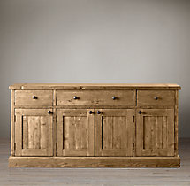 Salvaged Wood Panel Dining Sideboard