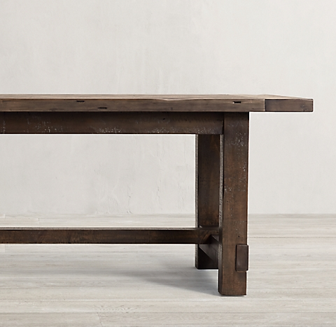 Salvaged Wood Farmhouse Collection Salvaged Grey RH - Salvaged wood farmhouse table