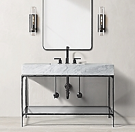 Thaddeus Forged Iron Single Extra Wide Washstand