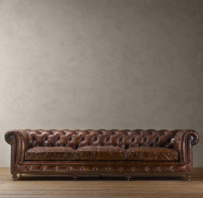 restoration hardware leather sofa Kensington Leather Sofa restoration hardware leather sofa