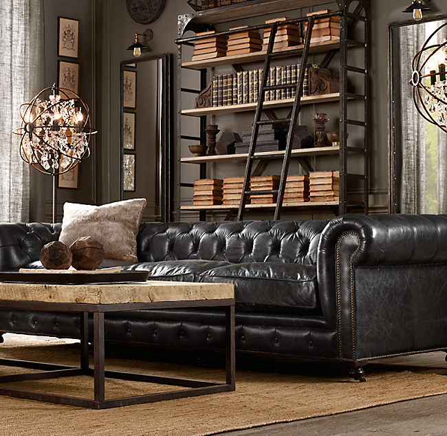 Kensington Leather Sofa - Leather chesterfield chairs