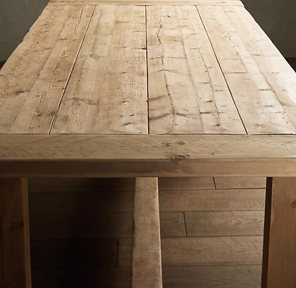 Farmhouse Salvaged Wood Rectangular Table Small