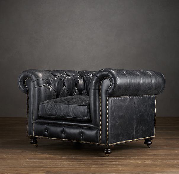 Restoration Hardware Leather Chair: Kensington Leather Chair