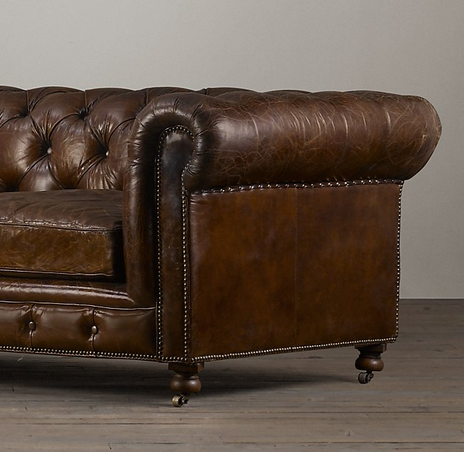 76 Kensington Leather Sofa