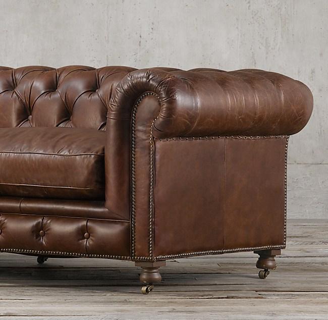"""Kensington Leather Sofa For Sale: 106"""" Kensington Leather Sofa"""