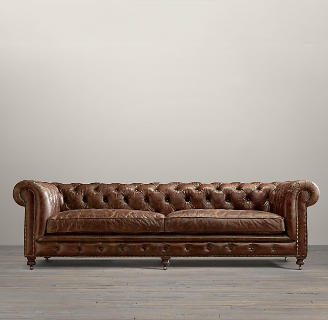 3 Depths Kensington Leather Sofa