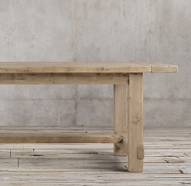 Contemporary prod DTL Contemporary - Simple Elegant restoration hardware salvaged wood table Beautiful