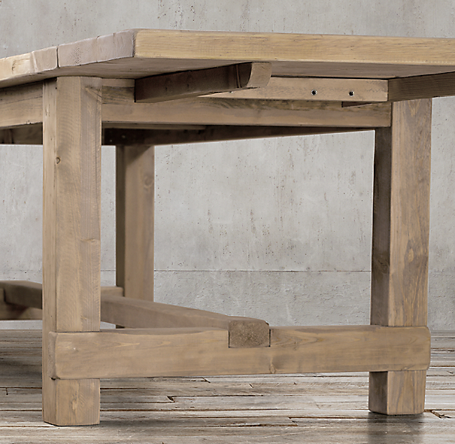 Salvaged Wood Farmhouse Rectangular Extension Dining Table  COLOR PREVIEW  UNAVAILABLE  Click to Zoom. Salvaged Wood Farmhouse Rectangular Extension Dining Table