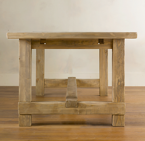 Salvaged wood farmhouse rectangular extension dining table for Table design using jsp