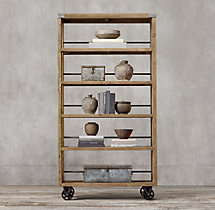 Wood & Steel Shelving