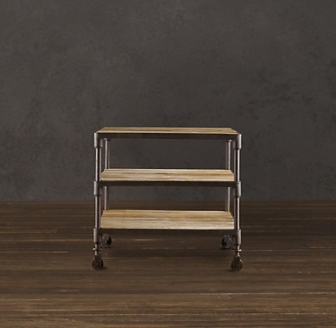 Dutch industrial 28 side table - Restoration hardware entry table ...