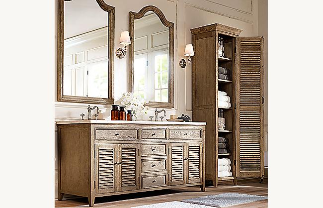 Shutter Tall Bath Cabinet, Restoration Hardware Bathroom Storage