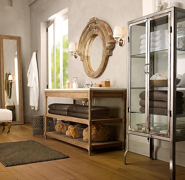 Restoration Hardware Uk Shipping: Pharmacy Large Bath Cabinet