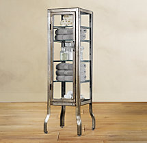 Pharmacy Small Bath Cabinet Burnished Steel