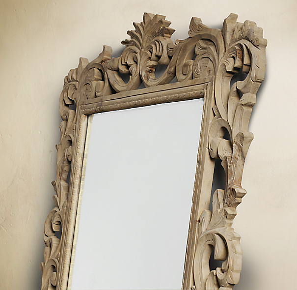 Rococo Leaner Mirror Natural