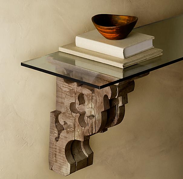 Gothic Corbel Amp Glass Shelf
