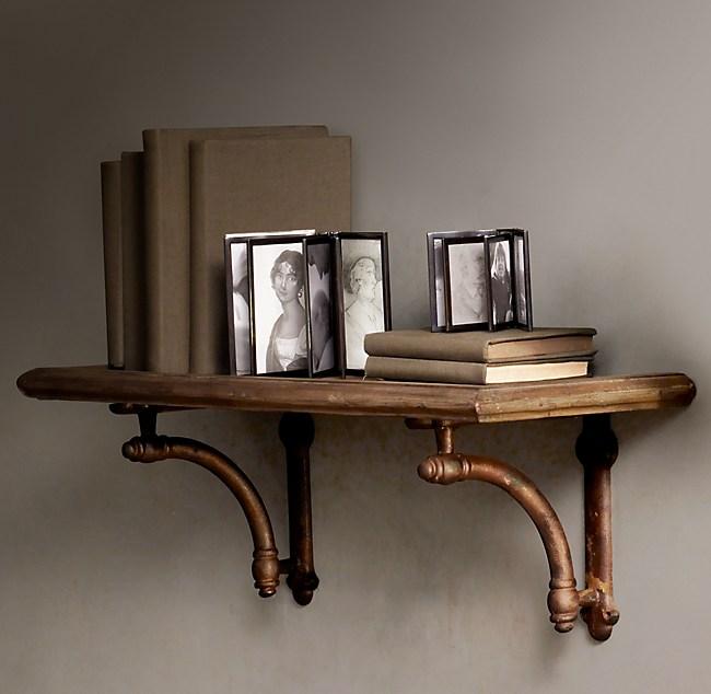 Arc Bracket Wood Shelf