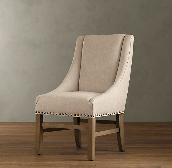 Dining Room End Chairs: Nailhead Upholstered Chair (Set Of 6