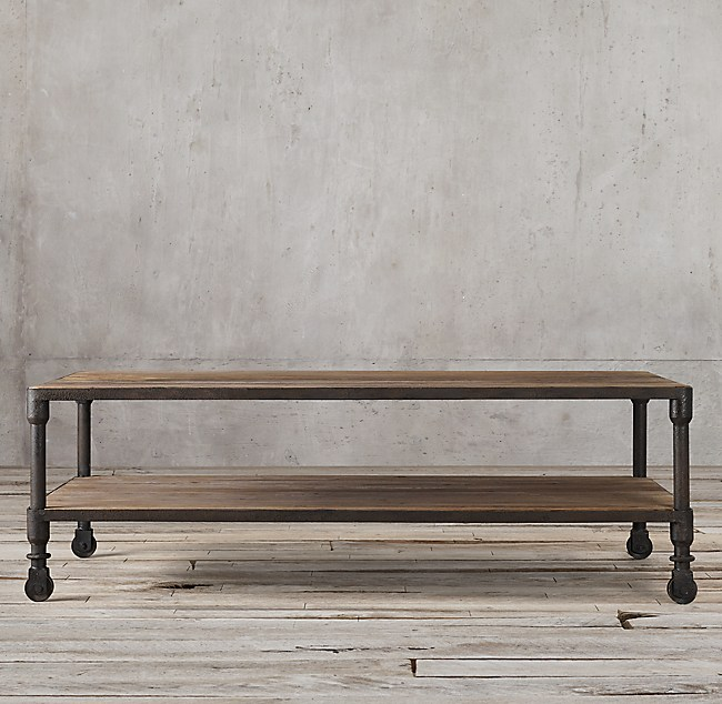 dutch industrial coffee table. Black Bedroom Furniture Sets. Home Design Ideas