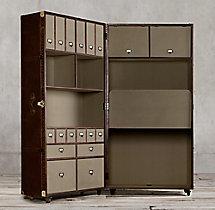 Mayfair Steamer Trunk Secretary - Vintage Cigar