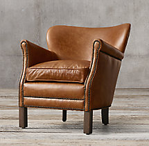 Professor 39 S Leather Chair With Nailheads