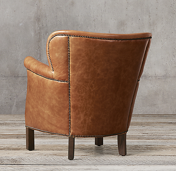professor's leather chair with nailheads