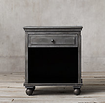 "26"" Annecy Metal-Wrapped Open Nightstand"