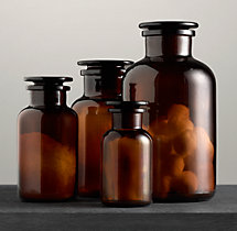 Pharmacy Amber Glass Bottles