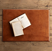 Artisan Leather Desk Mat - Chestnut