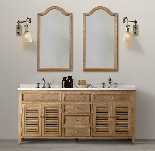 Restoration Hardware Bathroom Vanity Knockoff: Shutter Double Vanity