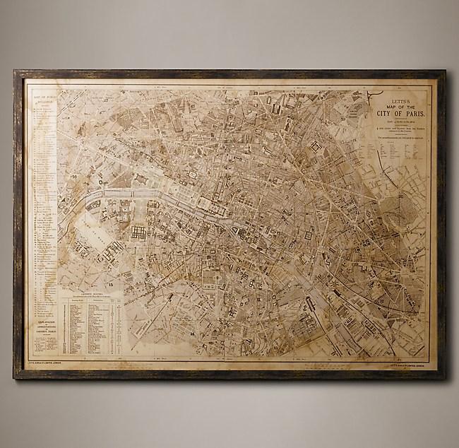 Paris Map - Restoration hardware paris map
