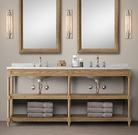 Weathered Oak Washstand Bath Collection