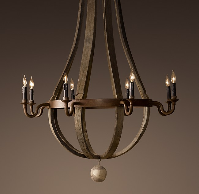 Wine Barrel Chandelier 43