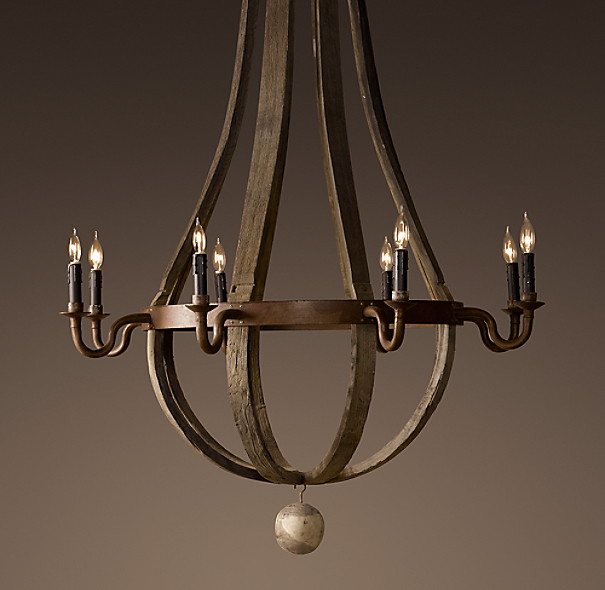 Restoration Hardware Light Fixture Sale: Wine Barrel Chandelier 43""