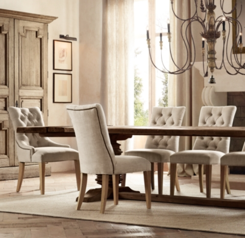 tufted dining room chairs design