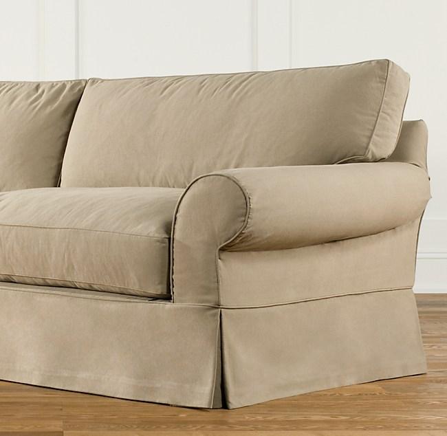 """84"""" Grand Scale Roll Arm Slipcovered Sleeper Sofa"""
