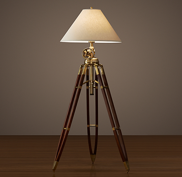 Royal marine tripod floor lamp for Royal marine tripod floor lamp antique brass