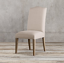 Hudson Camelback Fabric Side Chair