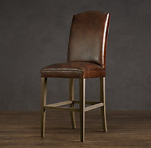 Hudson Camelback Leather Stool