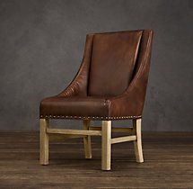 Nailhead Leather Armchair