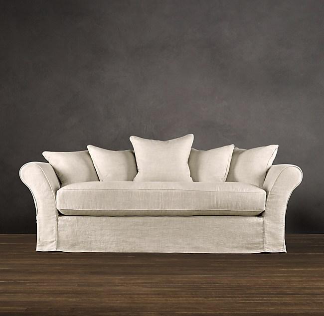 84 Camelback Slipcovered Sleeper Sofa