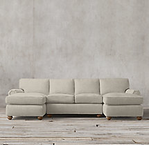 Preconfigured Classic Lancaster Upholstered U-Chaise Sectional