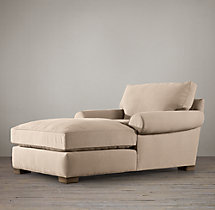 Grand-Scale Roll Arm Upholstered Chaise