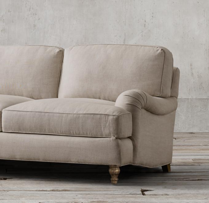 English Roll Arm Sleeper Sofa