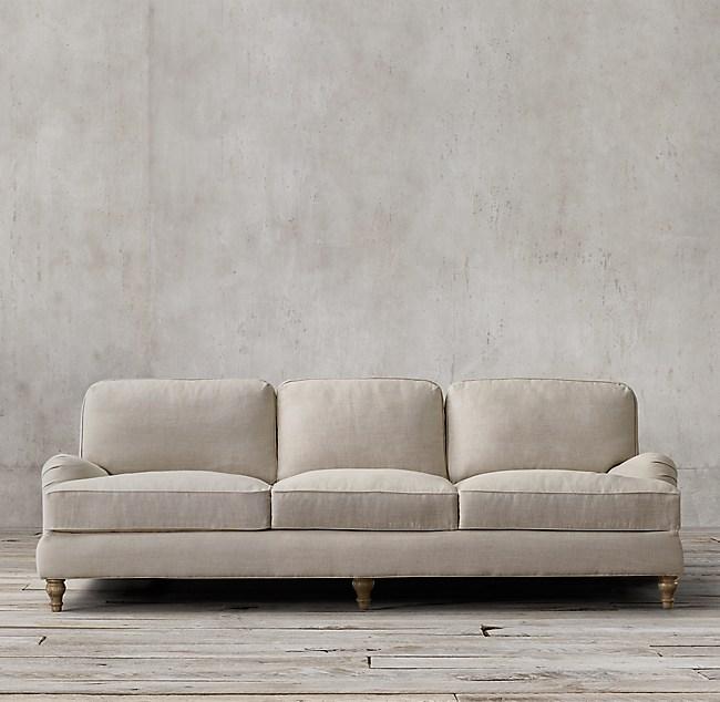 english roll arm sofa 96