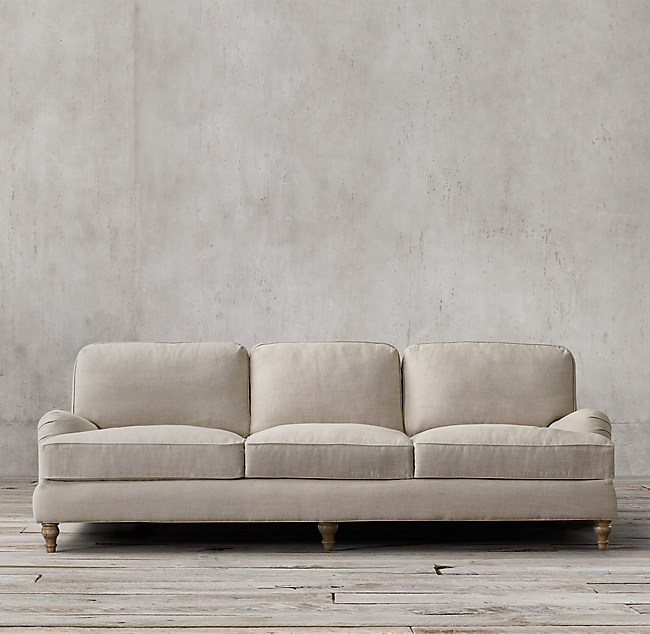 96 English Roll Arm Upholstered Sofa