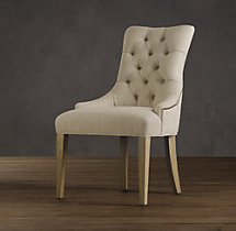 Martine Tufted Fabric Armchair