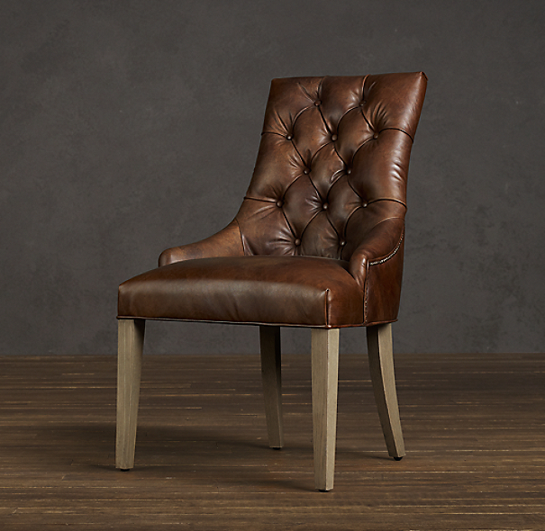 Martine Tufted Leather Armchair
