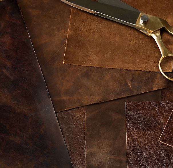 Restoration Hardware Leather : Leather swatches
