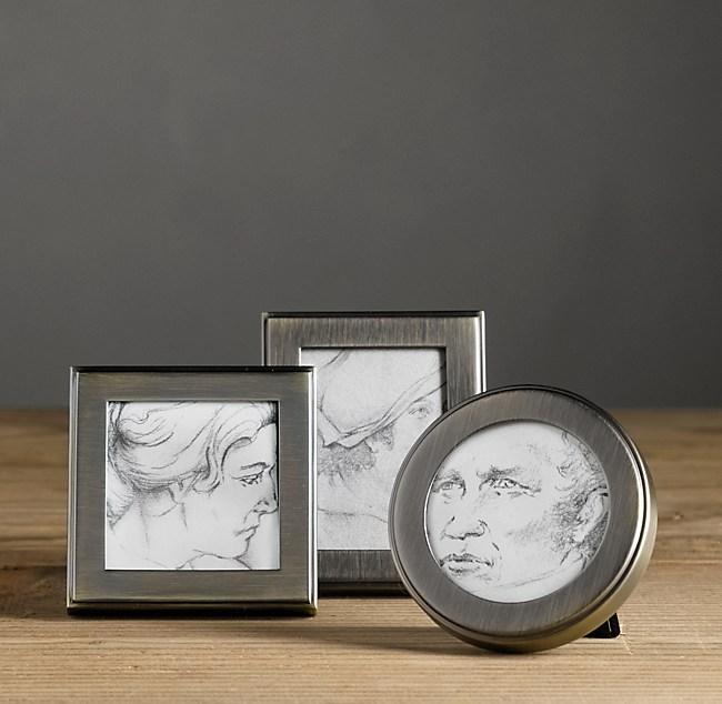 Hampton Mini Narrow Tabletop Frames (Set of 3) - Chestnut